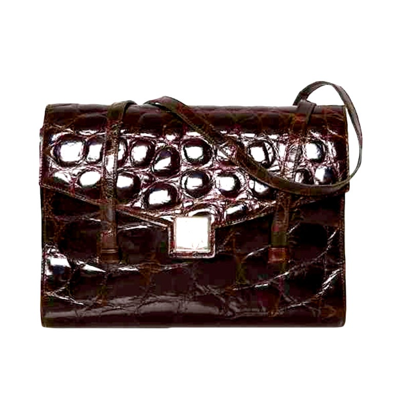 Christian Dior crocodile bag at 1stdibs 06b3b3ff74184