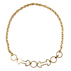 Celine Gold Chain Belt Necklace