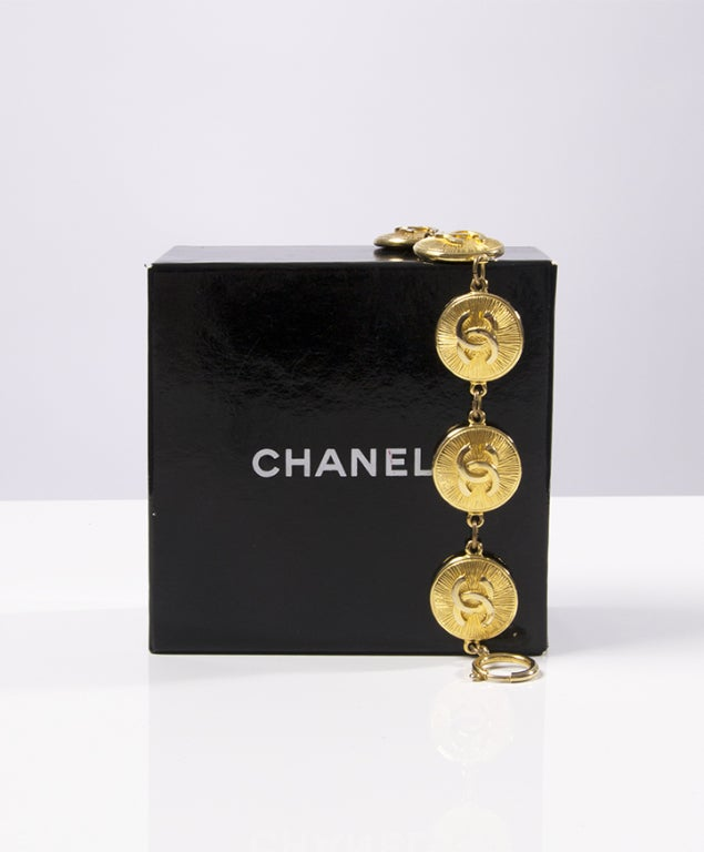 Chanel Gold Logo Bracelet at 1stdibs