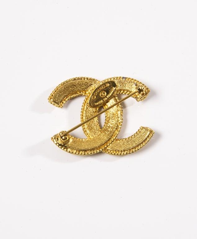 Chanel Gold Logo Brooch image 2