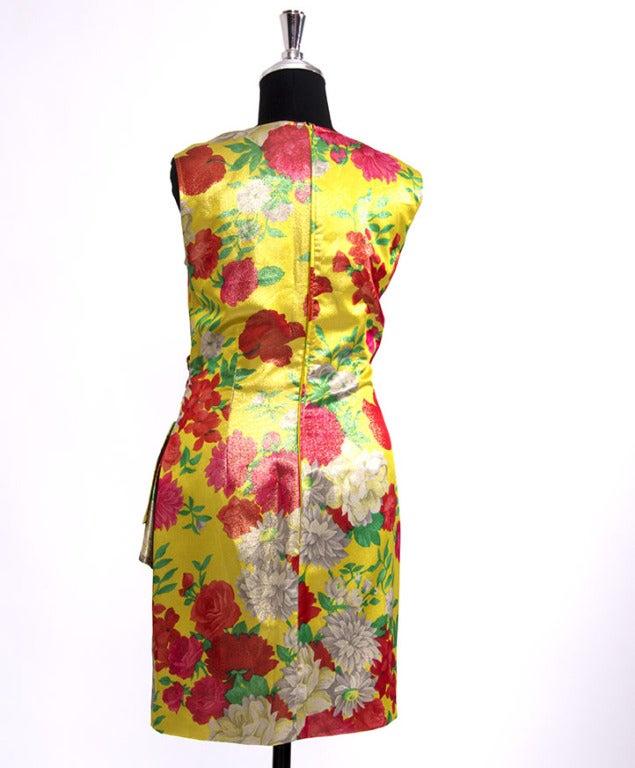 Ungaro Shimmer Silk Flower dress 2