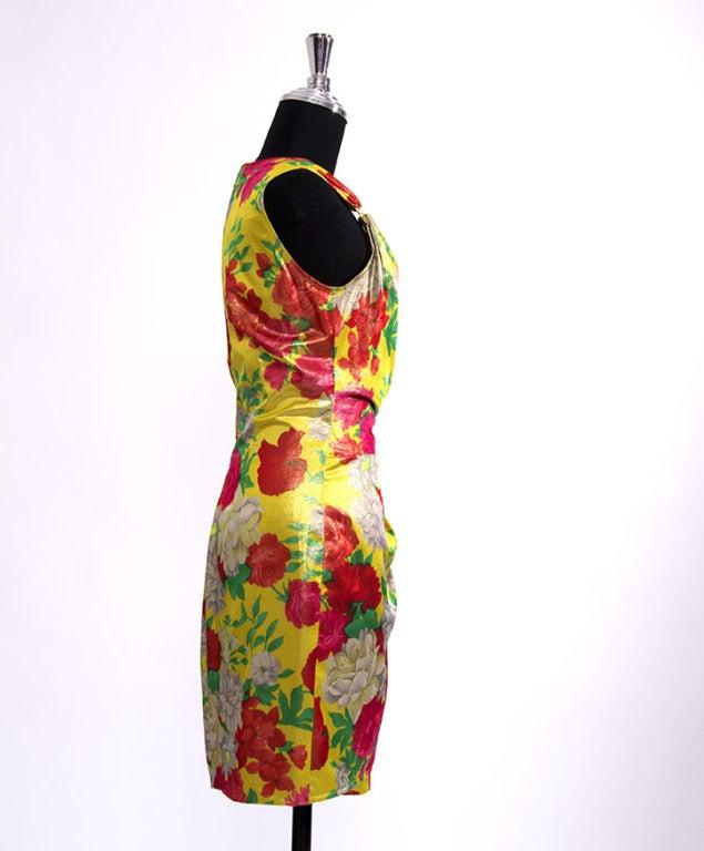 Ungaro Shimmer Silk Flower dress 3