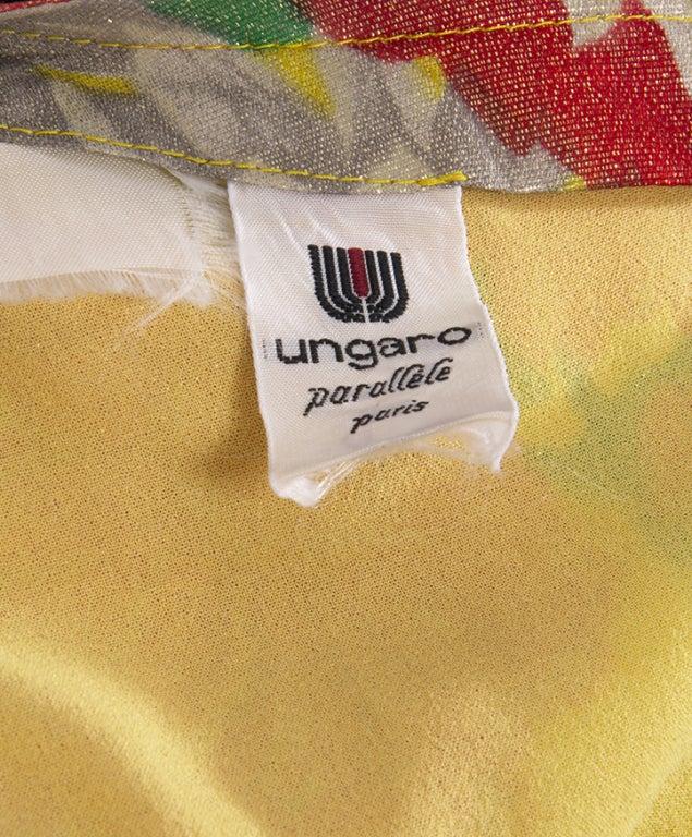 Ungaro Shimmer Silk Flower dress 4