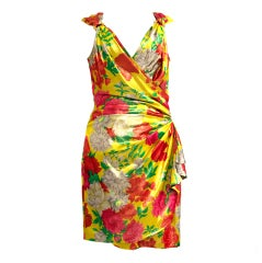 Ungaro Shimmer Silk Flower dress