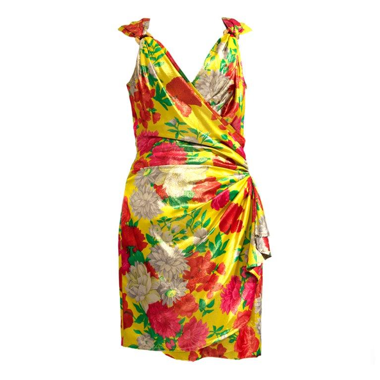 Ungaro Shimmer Silk Flower dress 1
