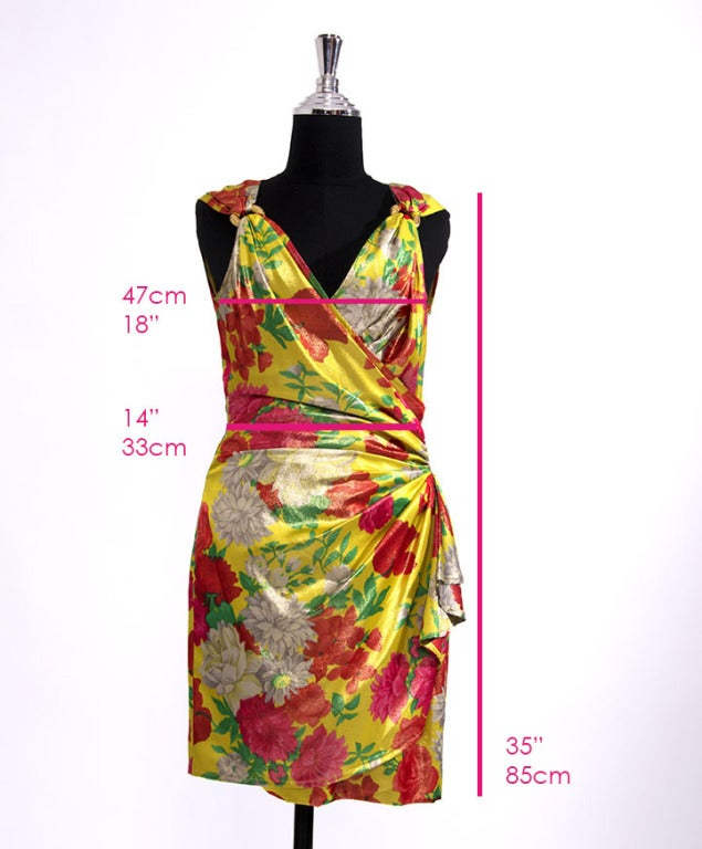 Ungaro Shimmer Silk Flower dress 6