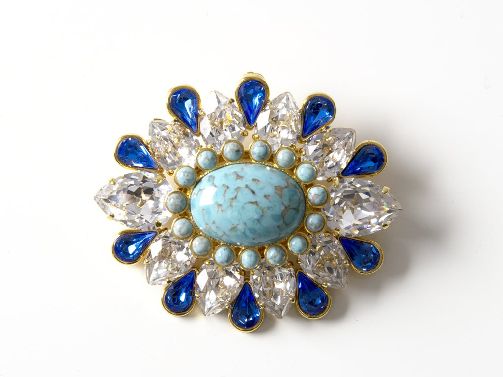 Dolce & Gabbana Turquoise Brooch 2