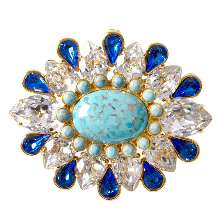 Dolce & Gabbana Turquoise Brooch 1