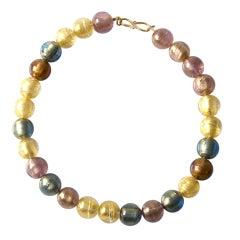 Murano Color Glass Bead Necklace (big)