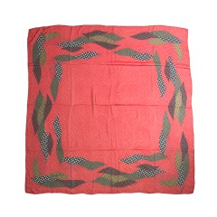 Christian Dior Red/Green/Black Silk Dotted Scarf