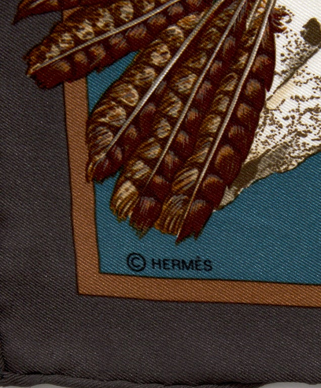 hermes dogon wallet replica - Hermes Silk Old-West inspired Print Scarf by Kermit Oliver at 1stdibs