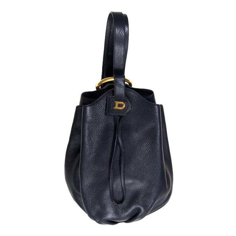 Delvaux Dark Blue Leather Handbag