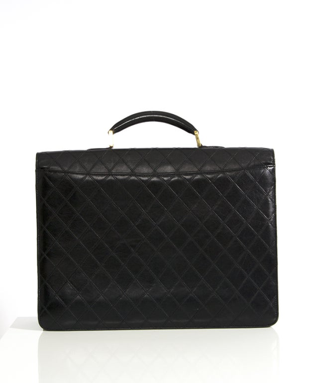Chanel Vintage Quilted Lambskin Classic Executive Briefcase Bag 2