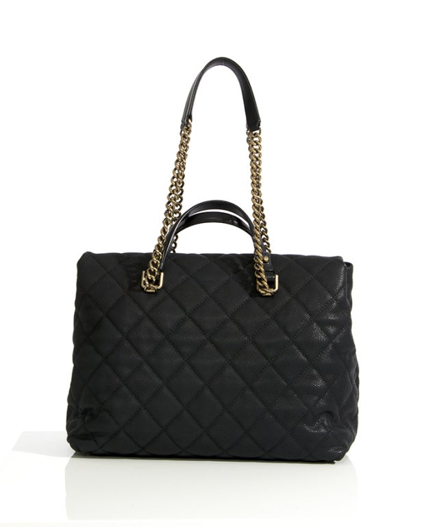 Chanel Large Tote Collection Spring/Printemps 2013 Black Grained 2