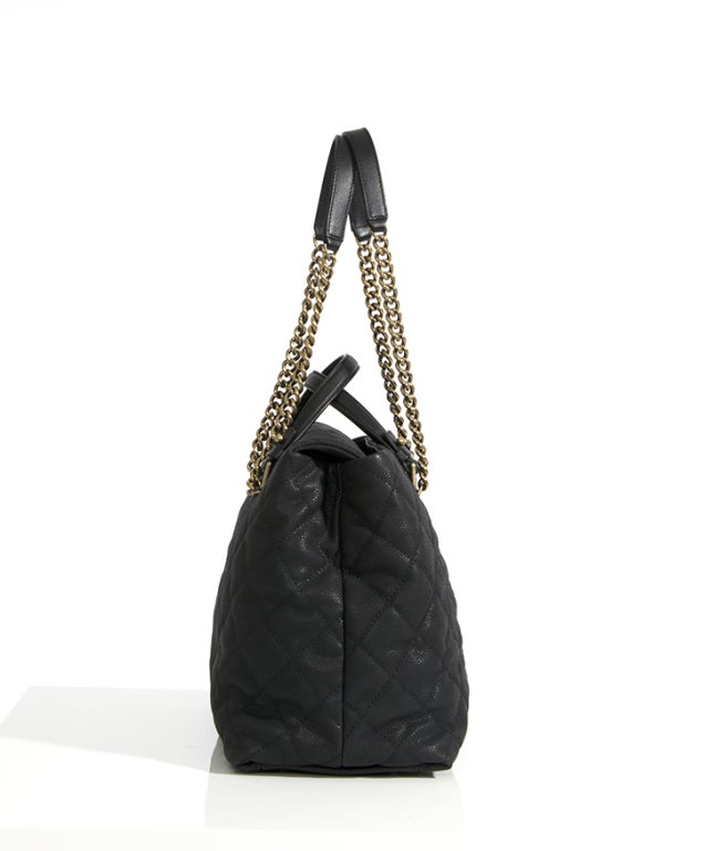 Chanel Large Tote Collection Spring/Printemps 2013 Black Grained 3