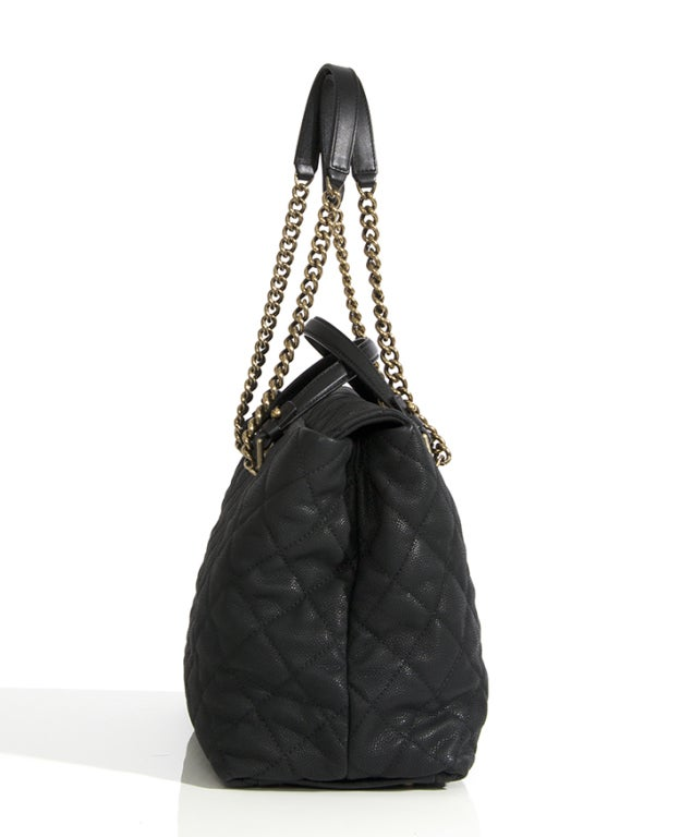 Chanel Large Tote Collection Spring/Printemps 2013 Black Grained 4