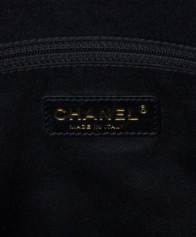 Chanel Large Tote Collection Spring/Printemps 2013 Black Grained image 6