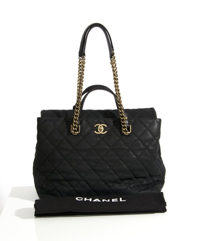 Chanel Large Tote Collection Spring/Printemps 2013 Black Grained 7