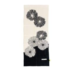 Christian Dior Silk Dandelion Black White Scarf