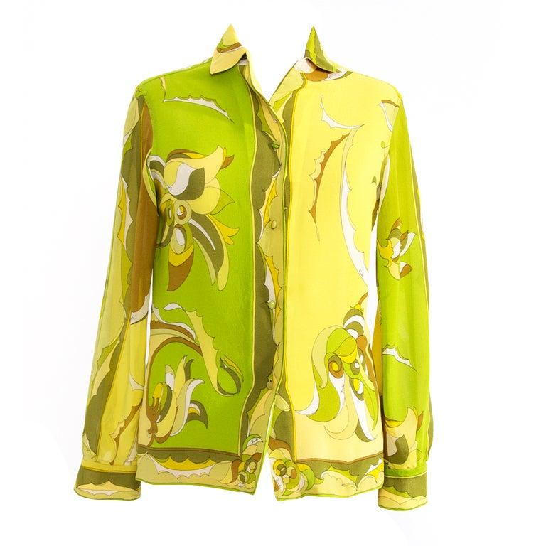 Yellow Green Blouse 72