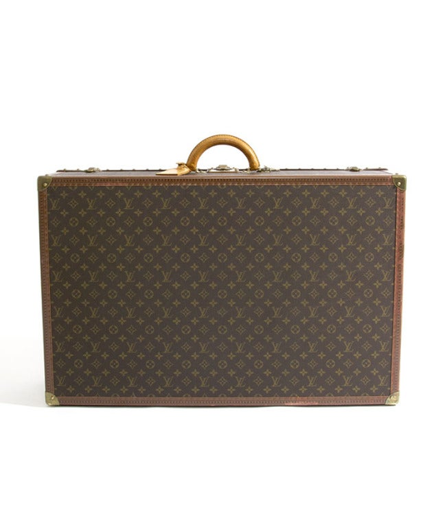 Louis Vuitton Monogram Alzer 80 Hard Suitcase Trunk Luggage image 4