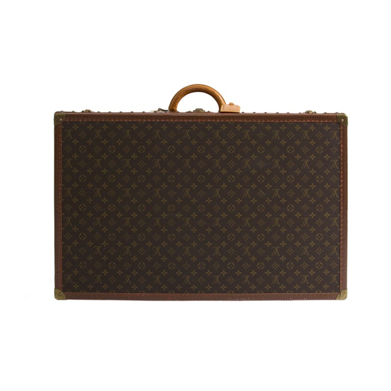 Louis Vuitton Monogram Alzer 80 Hard Suitcase Trunk Luggage