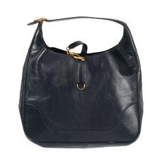 Hermes Navy Blue Trim Handbag