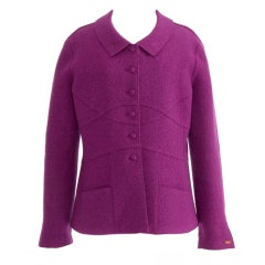 Chanel Violet Wool Blazer Coat