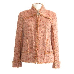 Chanel Salmon Blazer Vest Wool