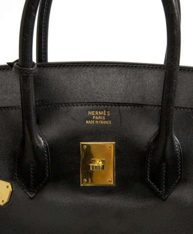 Hermes Birkin Box Calf Leather Birkin 35cm Black Box Calf
