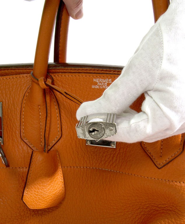 3875a8d10a47 Rare Hermes Haut A Courroie (HAC) ( Birkin XL ) Handbag Orange For Sale
