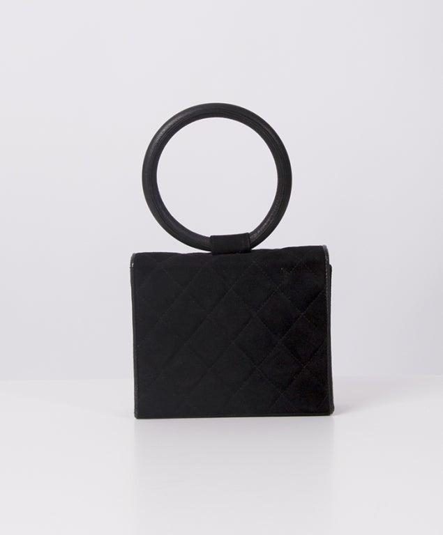 Rare Chanel Suede Evening Bag 3