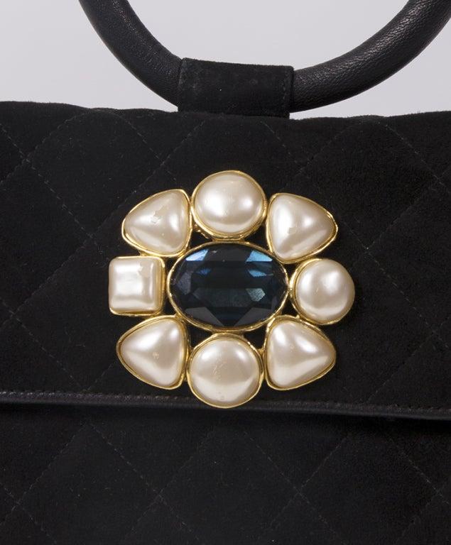 Rare Chanel Suede Evening Bag 4