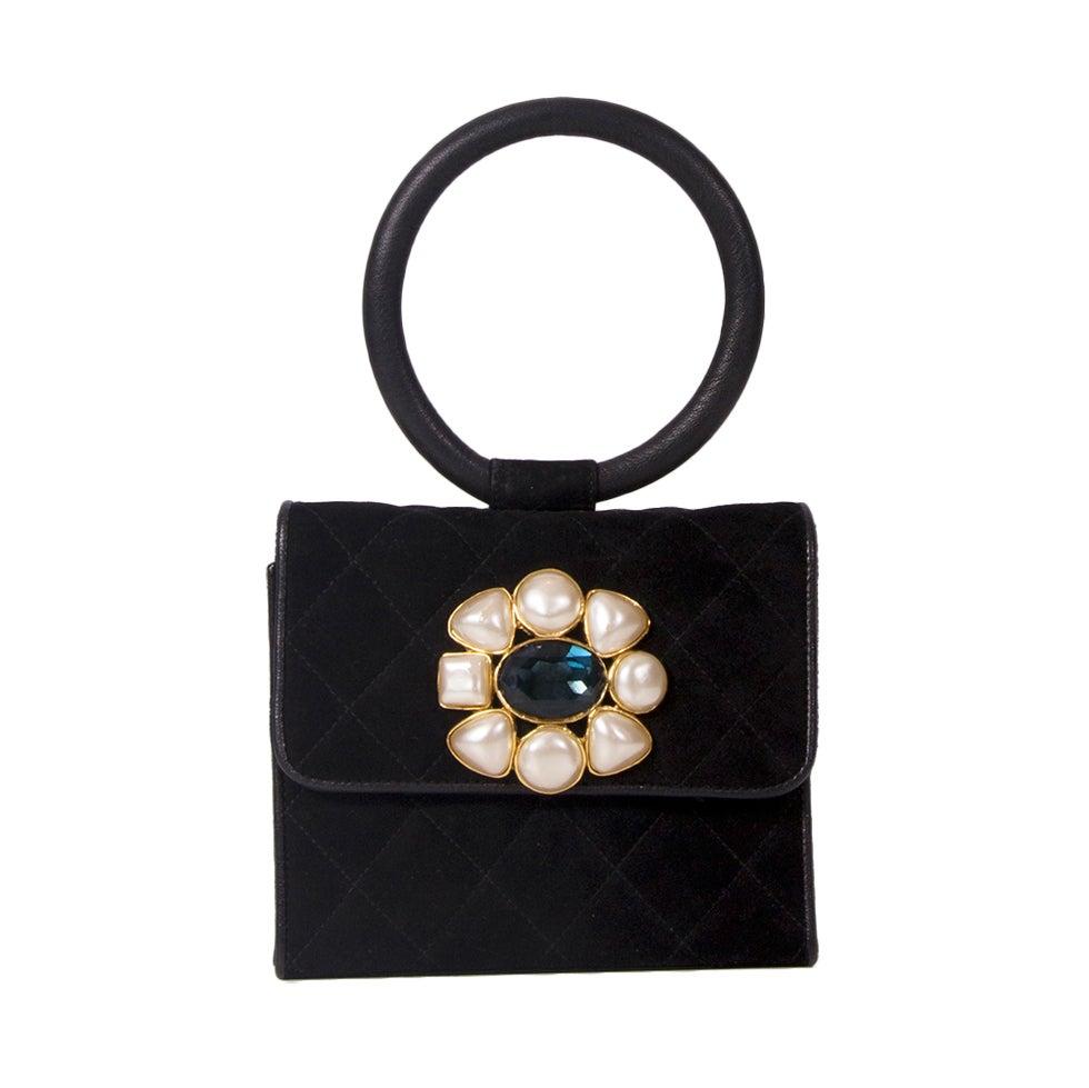 Rare Chanel Suede Evening Bag 1