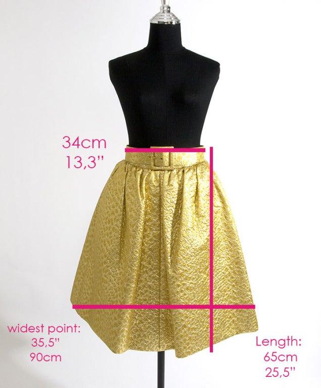 Givenchy Gold Jacquard Silk Skirt image 6