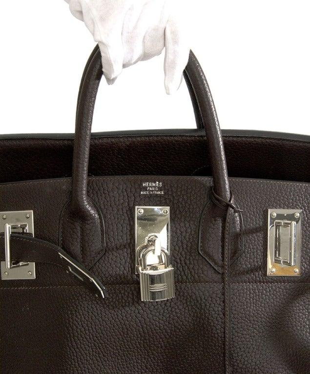 Rare Hermes Haut A Courroie (HAC) 5 Birkin Handbag Coffee Brown at ...