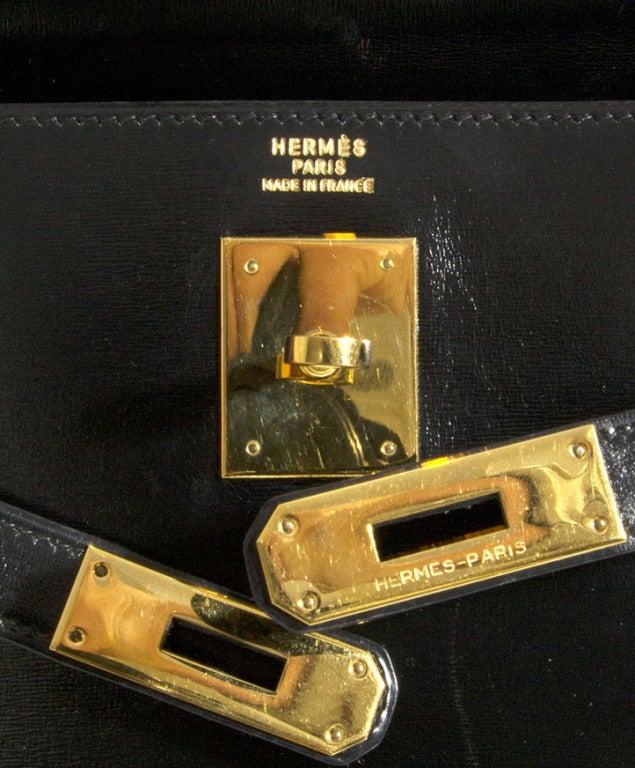 HERMES 32 CM Kelly sellier box black 7