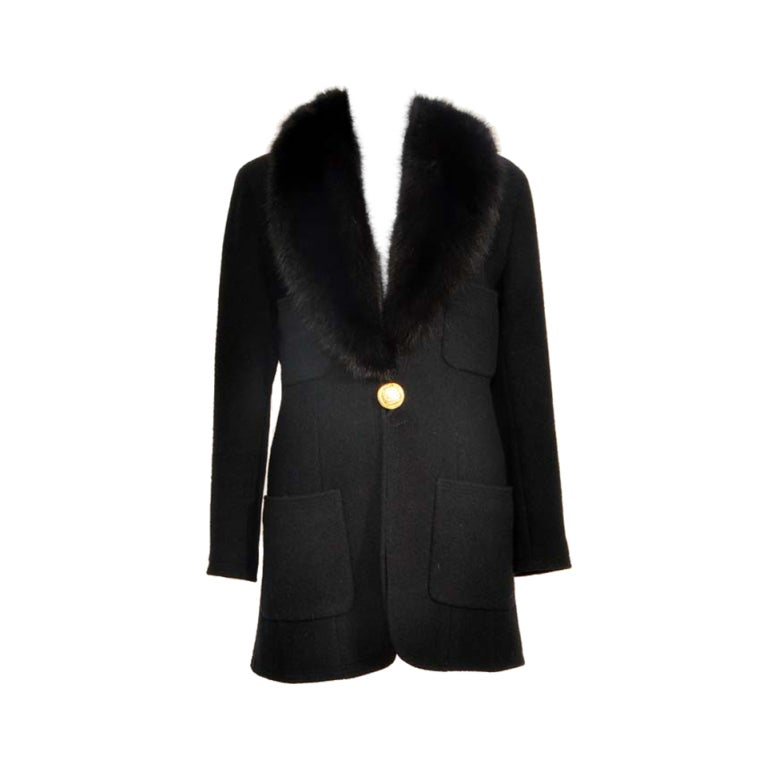 chanel haute couture fur coat at 1stdibs