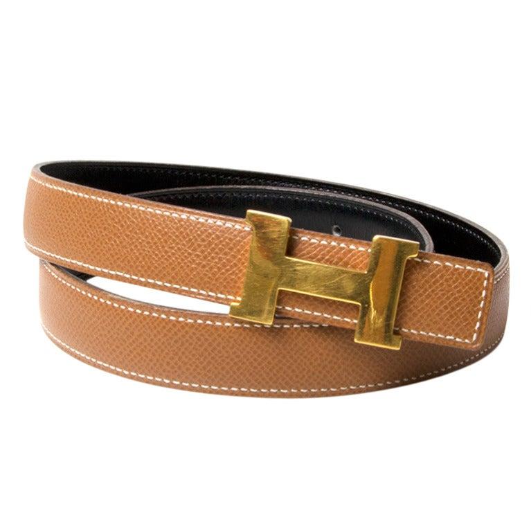 Reverse Hermes Belt