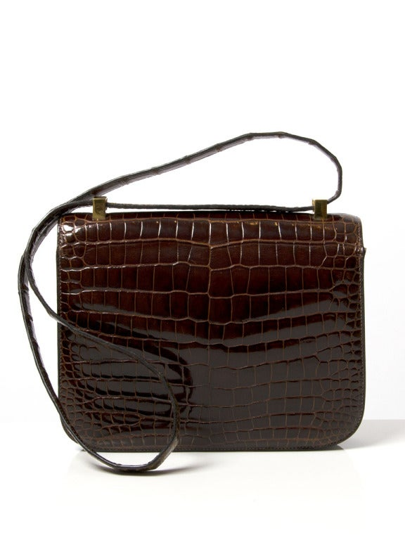 SUPER RARE Hermes Constance Bag Baby Crocodile Porosus 24 at 1stdibs