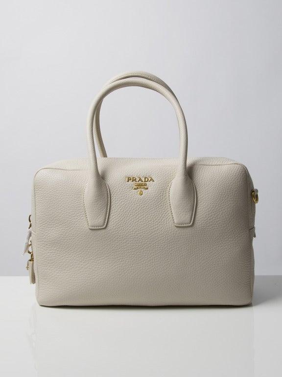 Brand New Prada Bauletto Talco Bag 2