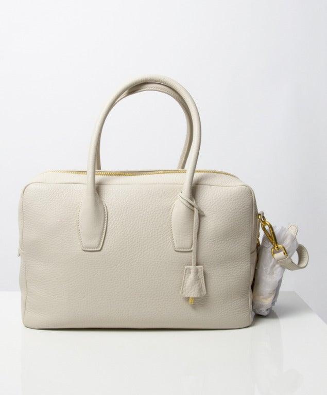 Brand New Prada Bauletto Talco Bag 3