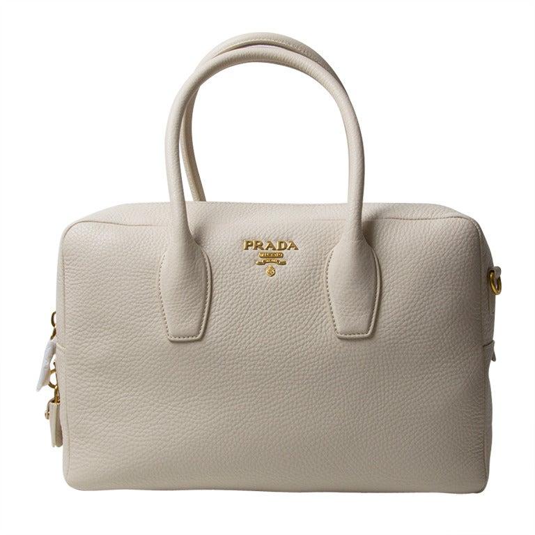 Brand New Prada Bauletto Talco Bag 1