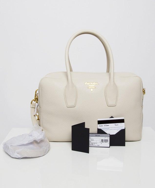 Brand New Prada Bauletto Talco Bag 8