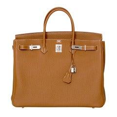 BRAND NEW 40 cm Gold Togo Birkin Hermes Bag