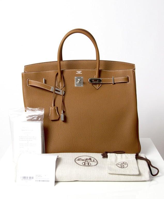 b8bde249e2c6 ... closeout brand new 40 cm gold togo birkin hermes bag for sale 3 2cfa2  b4299