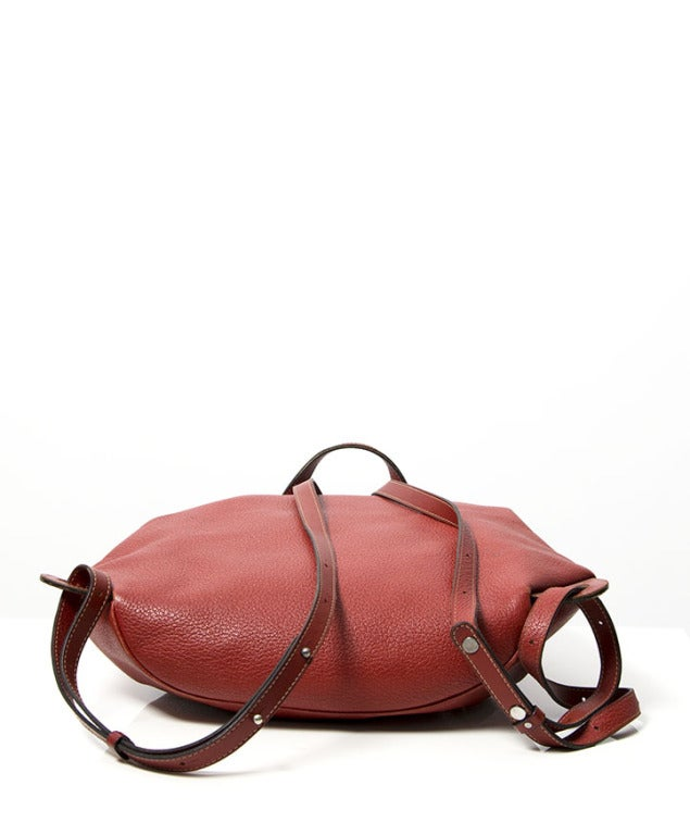 Deux de Delvaux Red Backpack For Sale 1