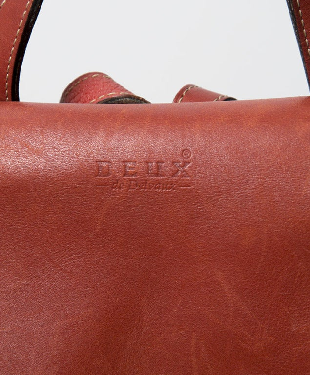 Deux de Delvaux Red Backpack For Sale 2