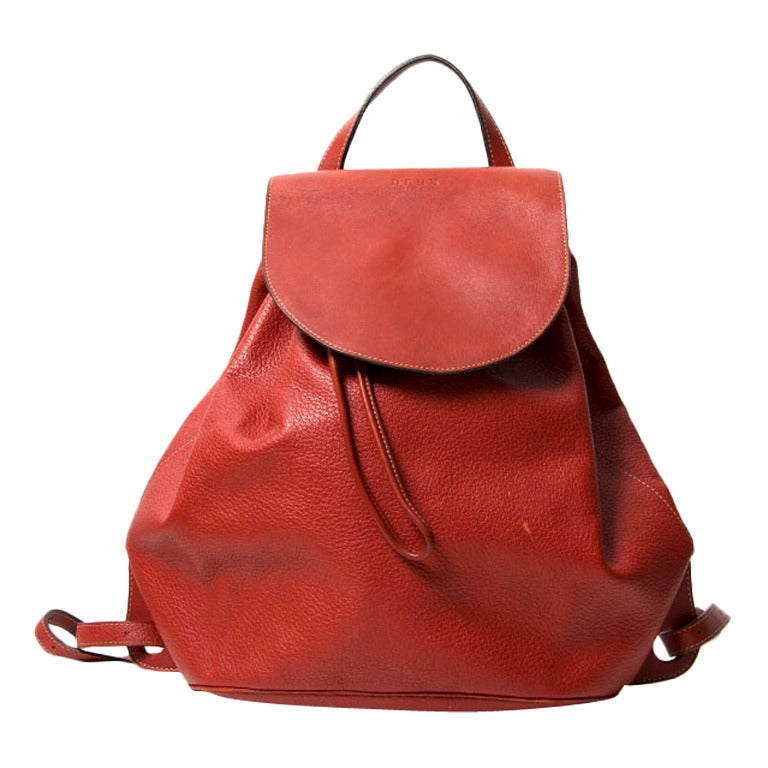 Deux de Delvaux Red Backpack For Sale
