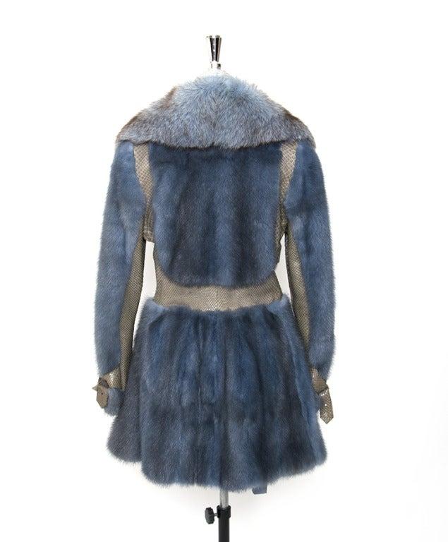 Edouard Blue Fur Coat 2